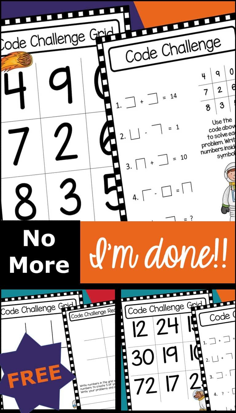 """Early Finishers Solved! No More, """"I'm Done!"""""""