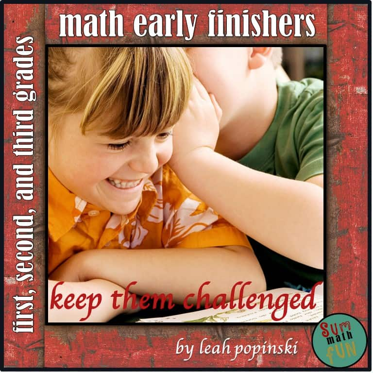 Early Finishers - Primary Grades - No prep printables for morning work, fast finishers, math centers, collaborative work, and tasks for gifted learners! Rigorous while still being lots of fun! #earlyfinishers #fastfinishers #youngmathematicians