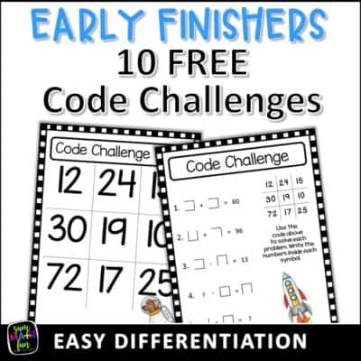 "Early Finishers Solved! No More, ""I'm Done!"""