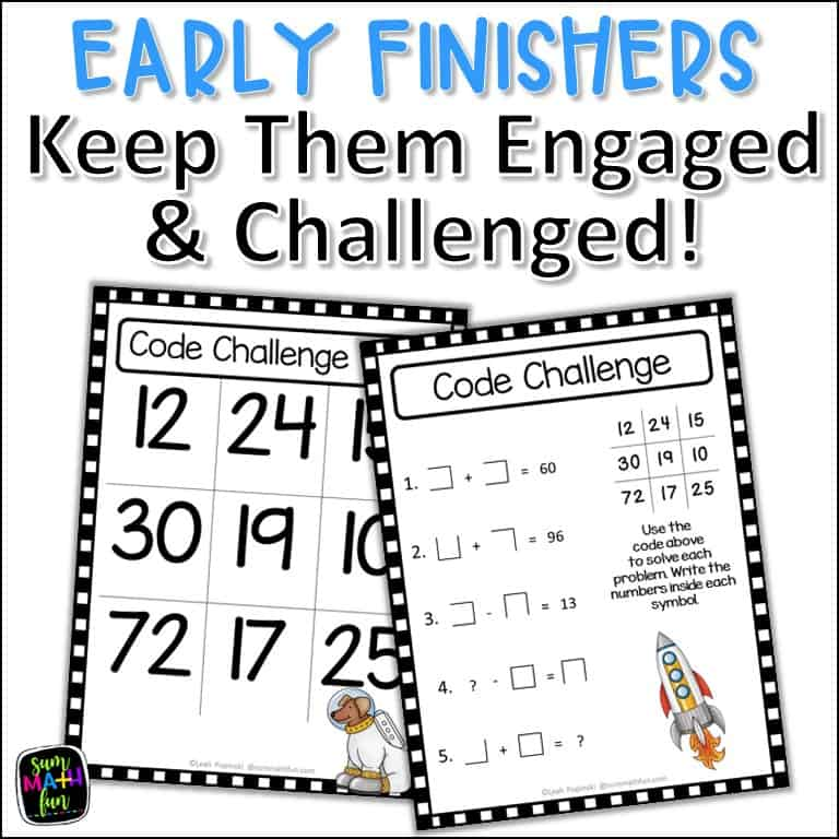 math-activities-early-finisher-code-challenges #earlyfinisher #fastfinisher #mathactivities
