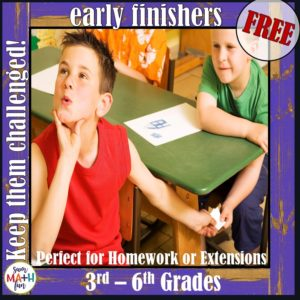 free-early-finisher-tasks #freeprintables #freeearlyfinisher