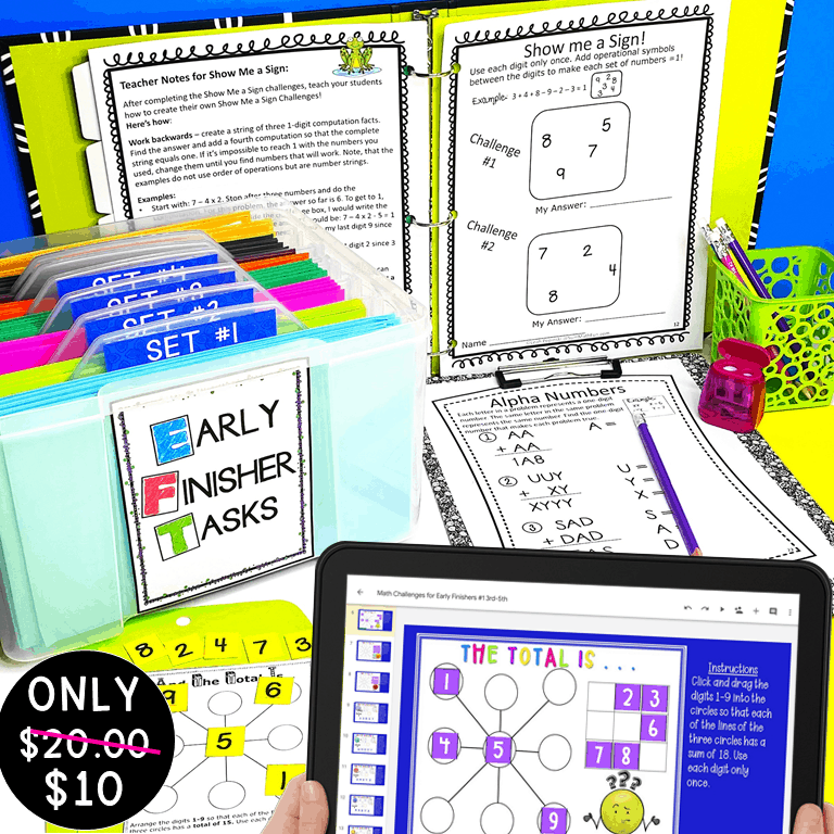 early-finishers-math-gifted-challenges-free #earlyfinishers #gifted