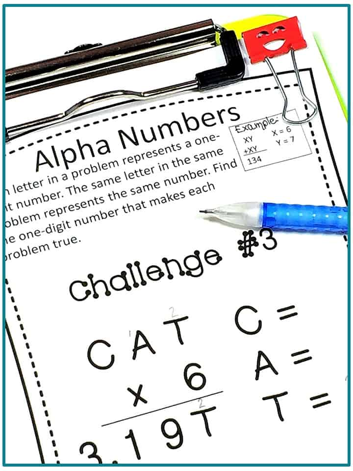 early-finishers-fast-finisher-tasks #mathprintables #earlyfinishers