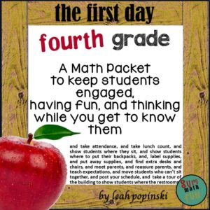 fourth-grade-math-packet-back-to-school #4thgrademath #backtoschool