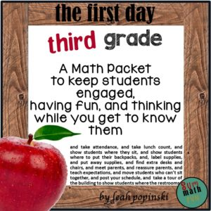 third-grade-back-to-school #thirdgrade #backtoschool #math packet