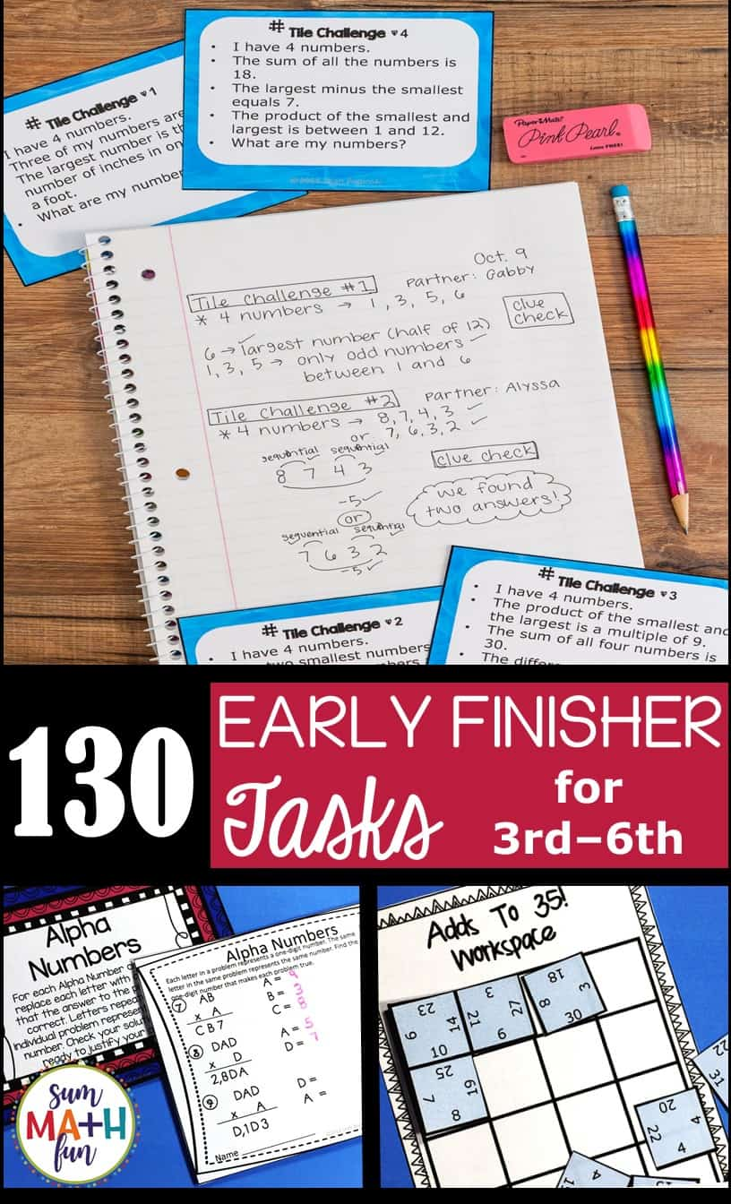 Early Finishers and Gifted – Homework Extensions – Bundled!