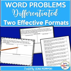 word-problems-problem-solving-differentiated-multiple-operations #wordproblems #mathactivites