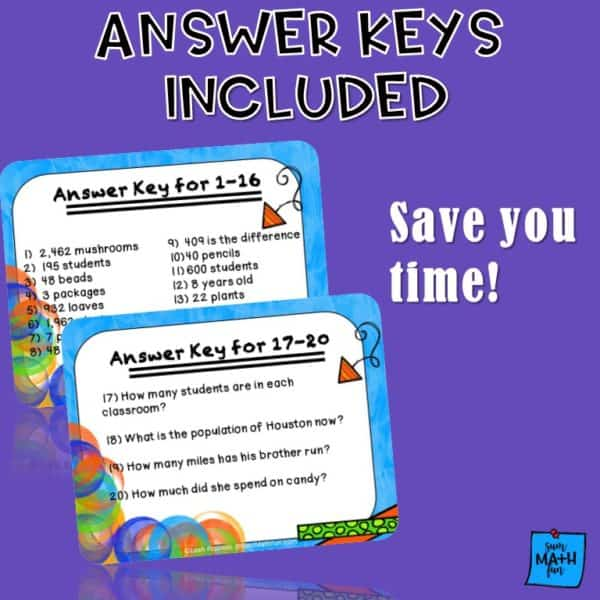 word-problems-differentiated-multiple-operations #wordproblems #mathactivites