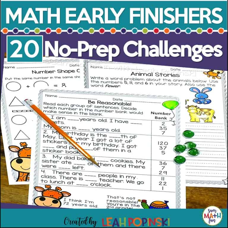 early-finisher-math-printables #earlyfinishers #earlyfinisherprintables