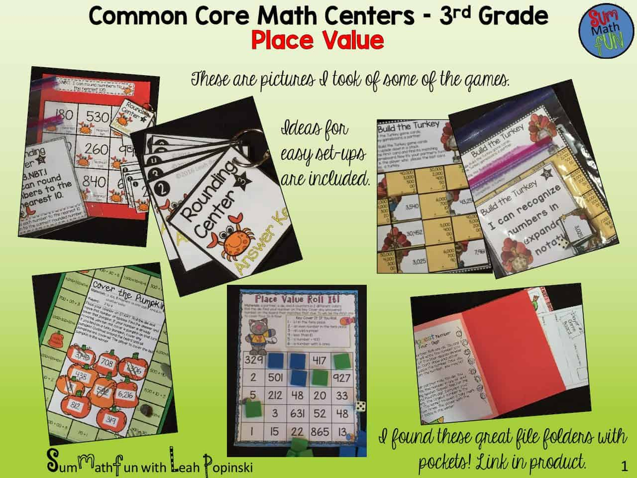 place value activities third grade common core centers for review practice sum math fun. Black Bedroom Furniture Sets. Home Design Ideas