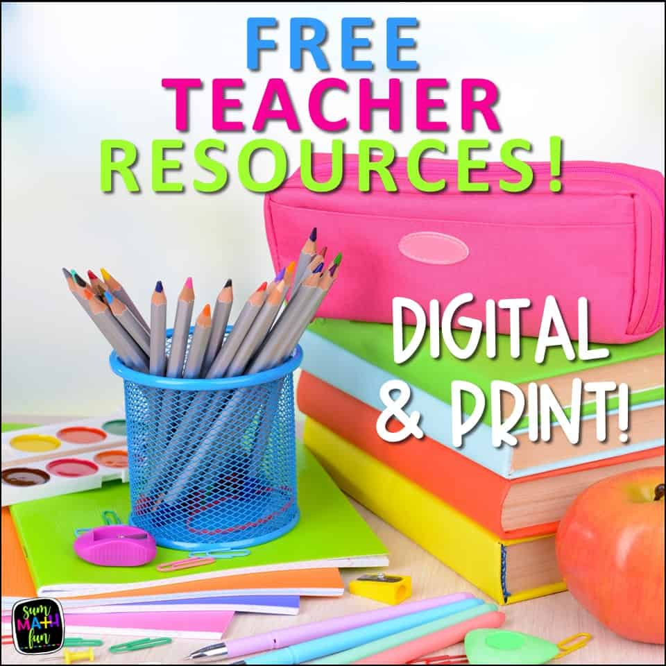 free-teacher-resources-kindergarten-first-2nd-3rd-4th-5th-grade #freeprintables #freemath #freemathresources