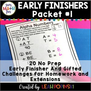 early-finisher-math-extensions