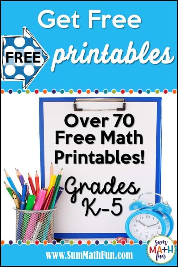 free-printables-math #freeprintables #freemath #freemathresources