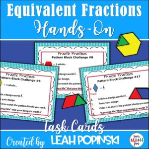 fractions-equivalent-hands-on-task-cards #equivalentfractions #handsonfractions