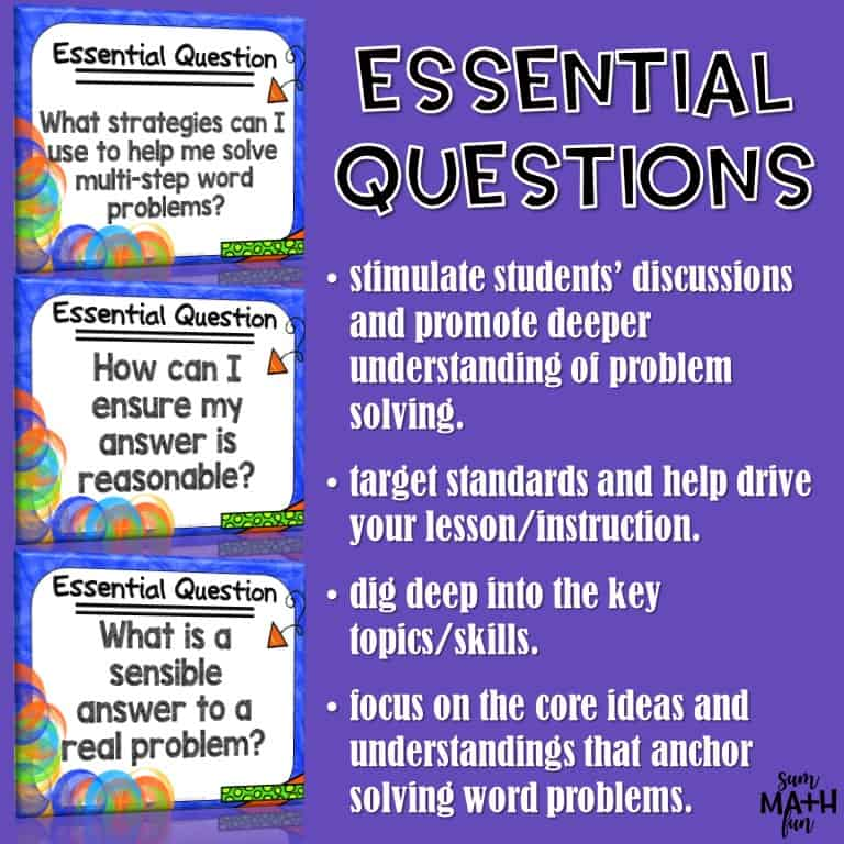 Word Problems 3rd Grade Multi Step Common Core Aligned