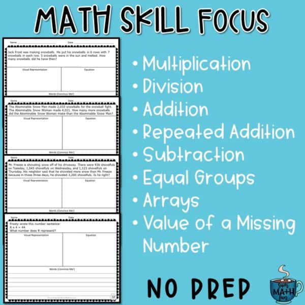 word-problems-winter-multi-step-graphic-organizer #3rdgrade #wordproblems #graphicorganizer