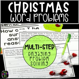 Christmas-word-problems-differentiated-multi-step-problem-solving-4th #wordproblems #4thgrademath #christmasactivity