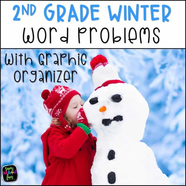 Christmas-word-problems-2nd-grade-graphic-organizer #christmas2ndgrade #Christmasmath