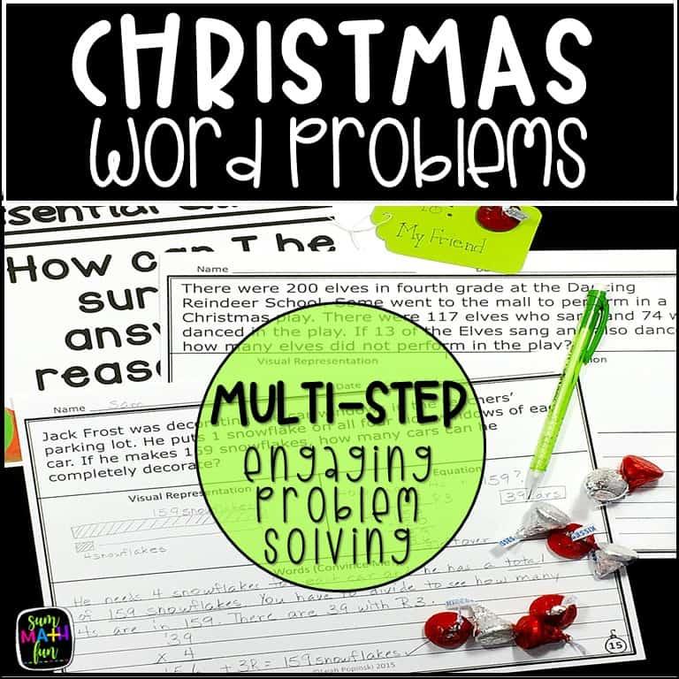 Christmas-word-problems-4th-grade-graphic-organizer #christmas4thgrade #Christmasmath