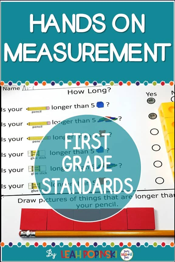 Measurement Activities for First Grade Hands On With Worksheets