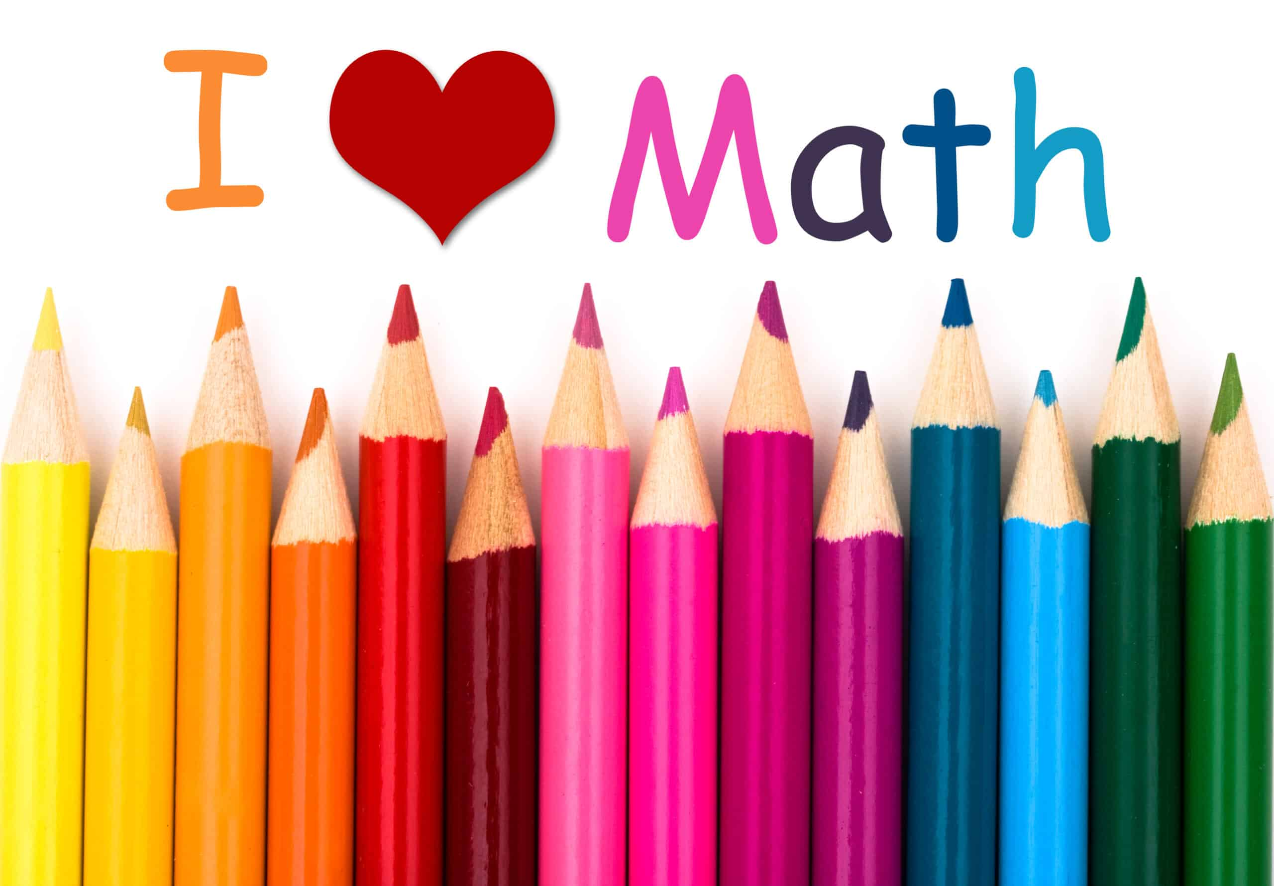 I love math colored pencils mental math
