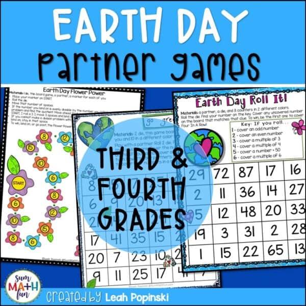 earth-day-math-games-3rd-4th-grades #earthdaymath #earthdaygames