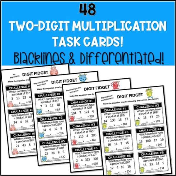 multiplication-task-cards-3rd-4th-fact-fluency-rigorous #multiplication #multiplicationactivities #3rd #4th
