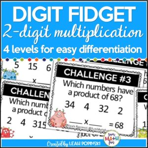 multiplication-task-cards-3rd-4th-fact-fluency-rigorous #multiplication #multiplicationactivities #3rd #4th