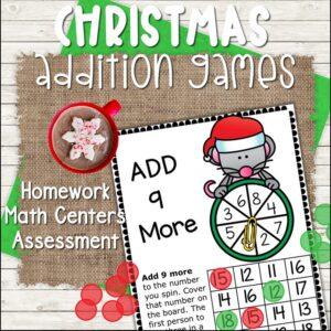 christmas-addition-games-no-prep #christmas #addition #games #noprep