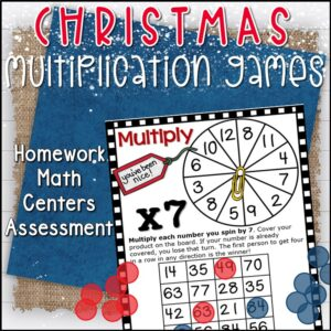 christmas-multiplication-facts #christmas #multiplication #facts