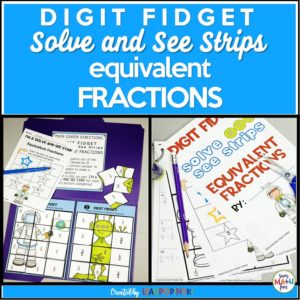 equivalent-fractions-worksheets-centers-3rd-4th-5th-cut-glue #fractions #equivalentfractions