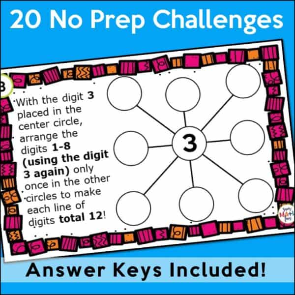 early-finishers-task-cards-problem-solving-4th-math-challenges #earlyfinishers #taskcards #mathchallenges