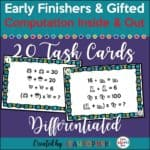 early-finishers-problem-solving-3rd-4th-5th-grades #earlyfinishers #gifted #problemsolving