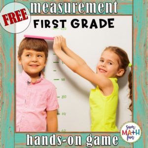 FREE Measurement Game First Grade Photo Cover