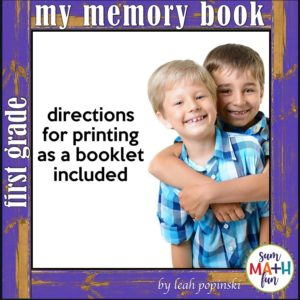 end-of-year-memory-book-first-grade #endofyear #memory #book #first #grade