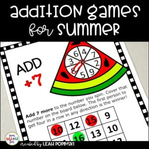 addition-games-first-fact-fluency #addition #additiongames #first