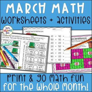 march-math-activities-worksheets #march #math #activities #worksheets