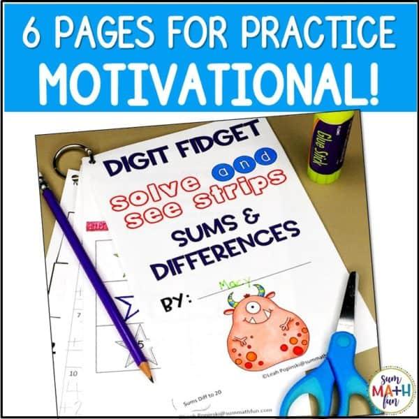 fact-fluency-activities-first-grade-kindergarten-motivational #addition #subtraction #factfluency