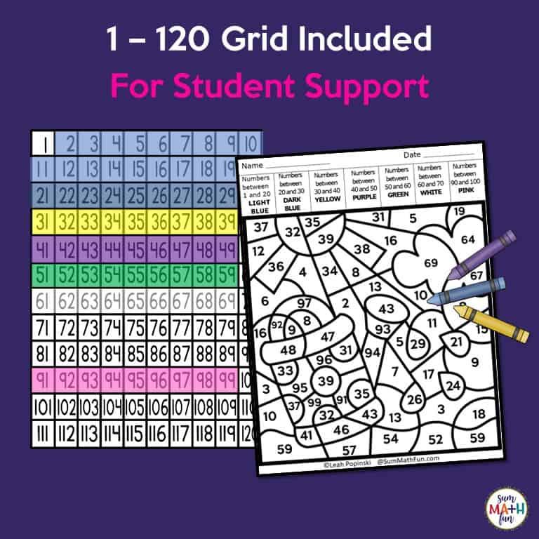 Place Value Worksheets - Color by Number - 1st Grade & 2nd ...