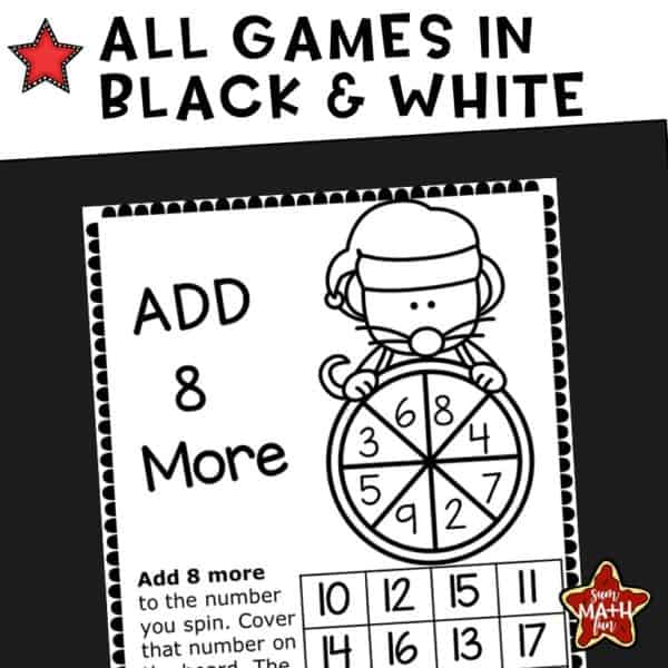 christmas-addition-games-no-prep #christmas #addition #games #noprep