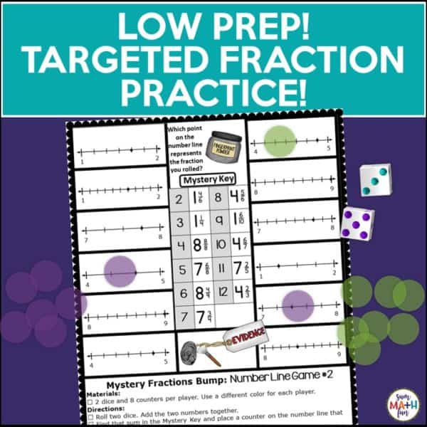 Fraction games and Activities-Differentiate for the many levels of understanding about fractions in your classroom with these fun and engaging Mystery Themed fraction games! LOW PREP!