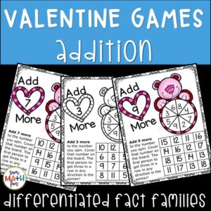 Valentine Addition Fact Games