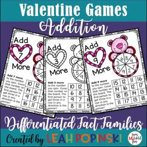 Valentine Addition Fact Games