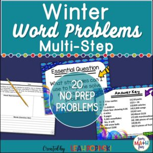 Winter Word Problems - Differentiated problem solving practice #wordproblems #problemsolving #4thmath