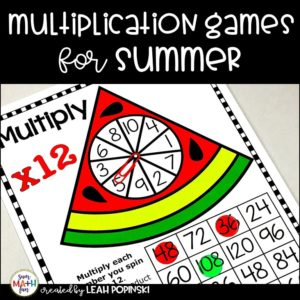 multiplication-games-fact-fluency-3rd-grade #multiplication #multiplicationgames