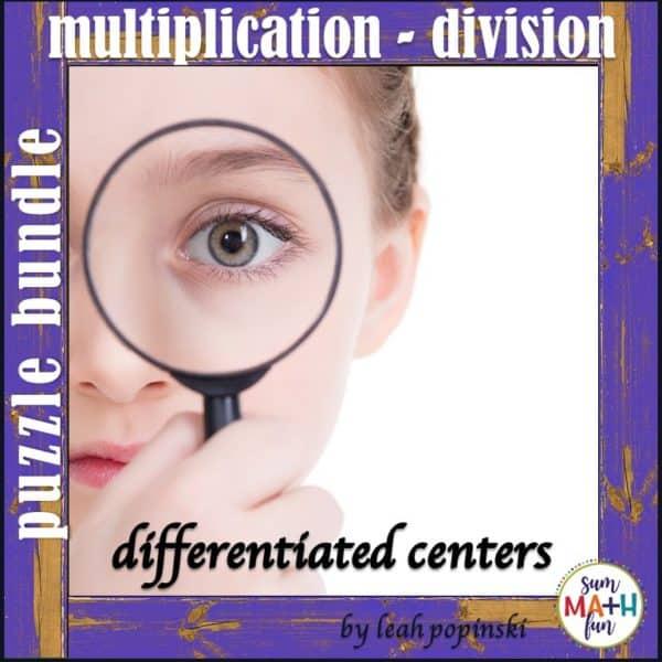 multiplication-division-puzzles-bundle #multiplication #division #puzzles