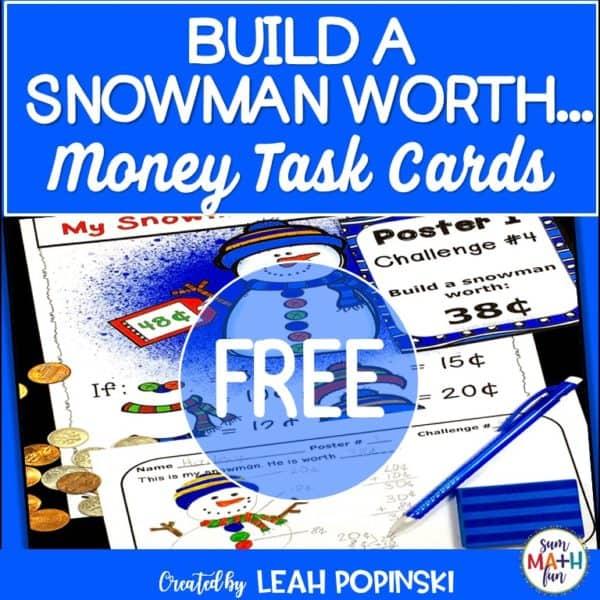 money-task-cards-winter-theme #money #taskcards #winter