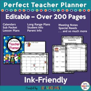 teacher-planner-organizer-calendar-substitute #teacherbinder #teacherplanner