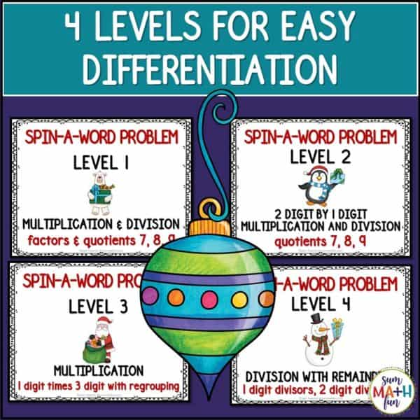 christmas-multiplication-division-spin-a-word #christmas #multiplication #division #spinaword