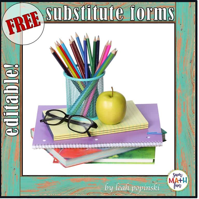 FREE Substitute Forms